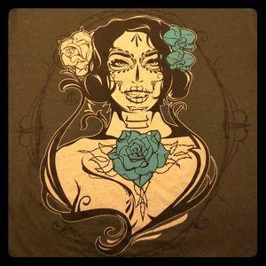 Tops - Dia de los Muertos Girl T-shirt